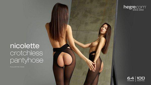 [Art] Nicolette - Crotchless Pantyhose